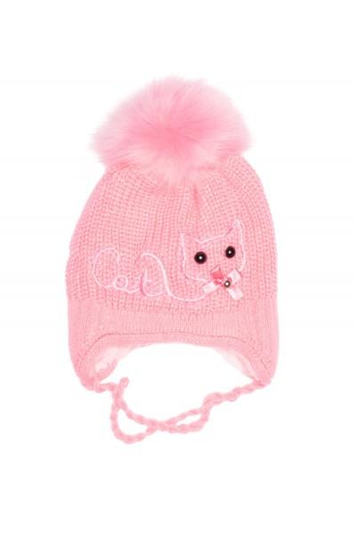 caciula fete roz imprimeu pisica