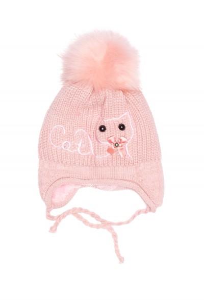 caciula fete roz prafuit imprimeu pisicuta