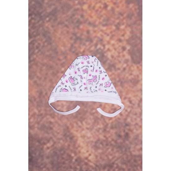 caciula interior azuga imprimeu ursuleti roz