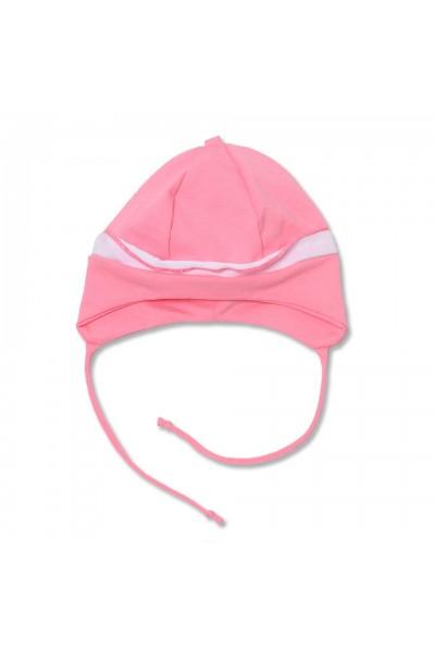 caciula bebe roz volanas