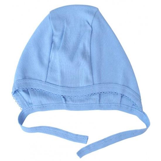 caciula interior bumbac albastra