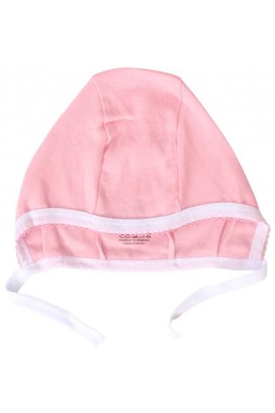 caciula interior bumbac roz dunga alba