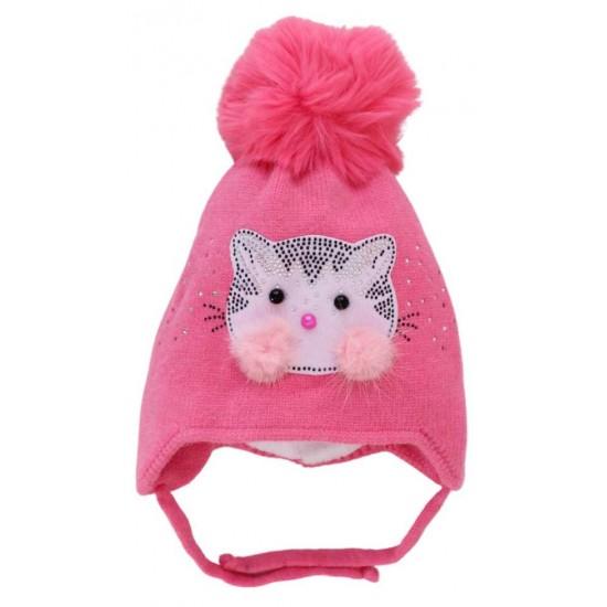 Caciula fete roz inchis pisicuta