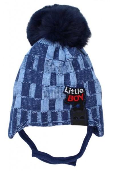 Caciula copii little boy albastru-bleu