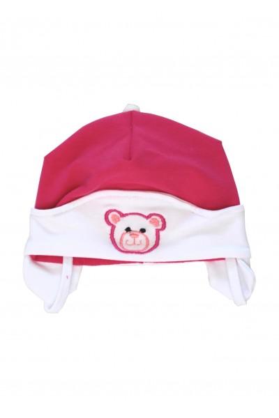Caciula ewelin ursulet roz