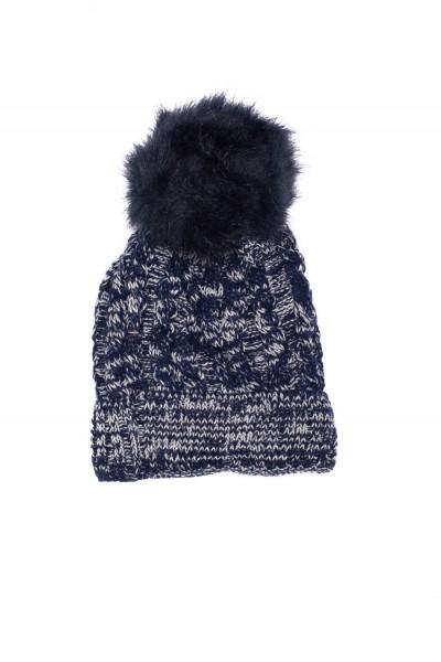 caciula fete tricotata bleumarin
