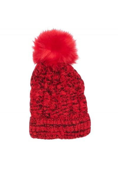 caciula fete tricotata rosie