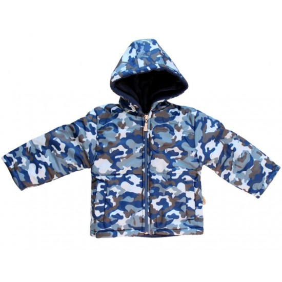 geaca baieti army albastra