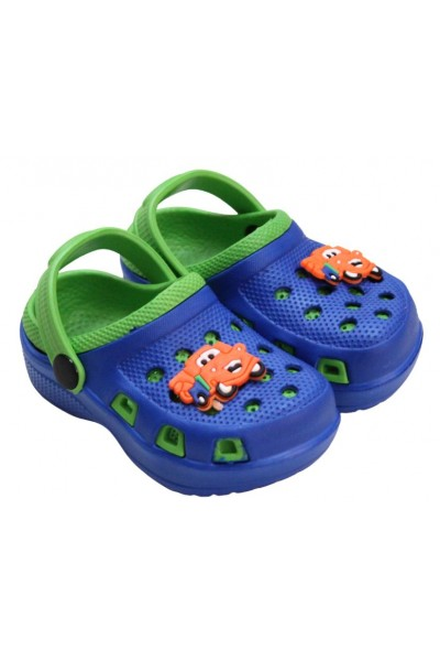 papuci copii albastru-verde
