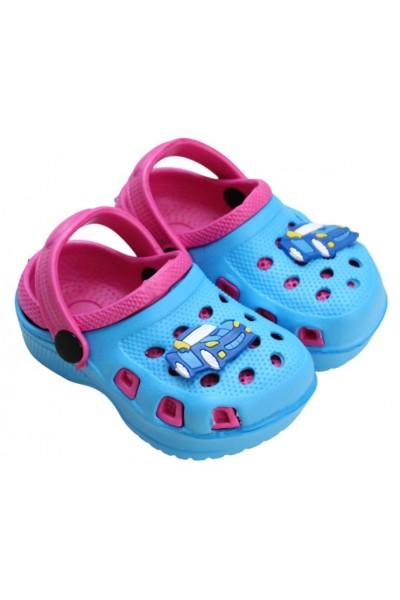 papuci copii bleu-roz