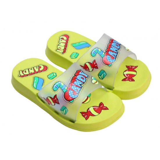 papuci copii verzi candy