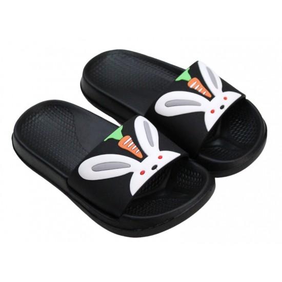 papuci copii negri iepuras