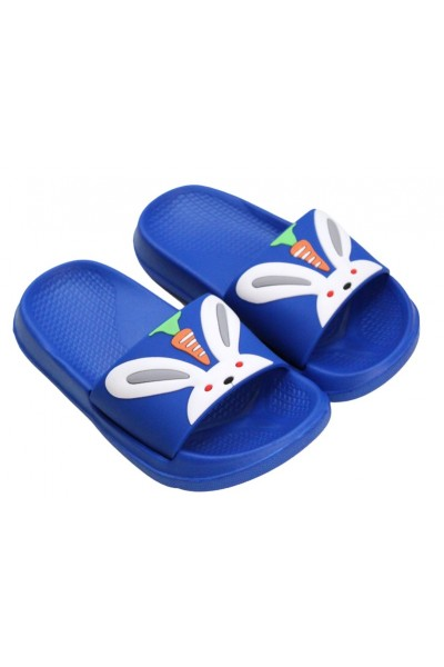 papuci copii albastru iepuras