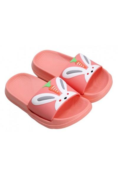 papuci copii roz piersica iepuras