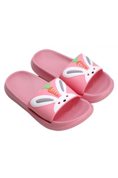 papuci copii roz iepuras