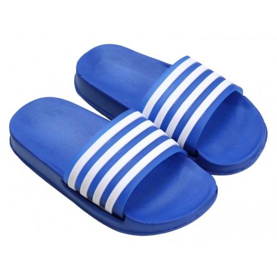 papuci copii albastri dungi albe
