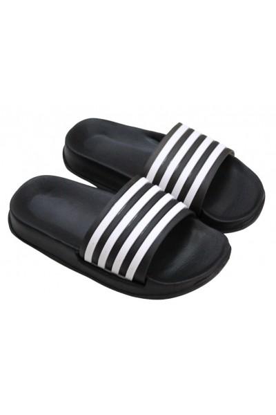 papuci copii negri dungi albe