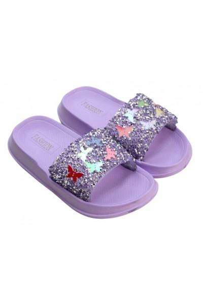 papuci copii mov fluturas