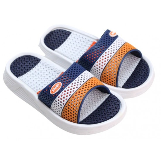 papuci copii bleumarin-portocaliu sport
