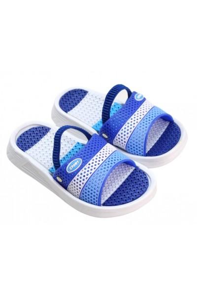 papuci copii albastru-bleu sport