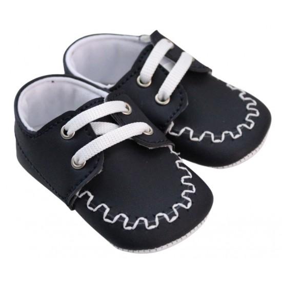 pantofiori baieti bleumarin cusatura alba