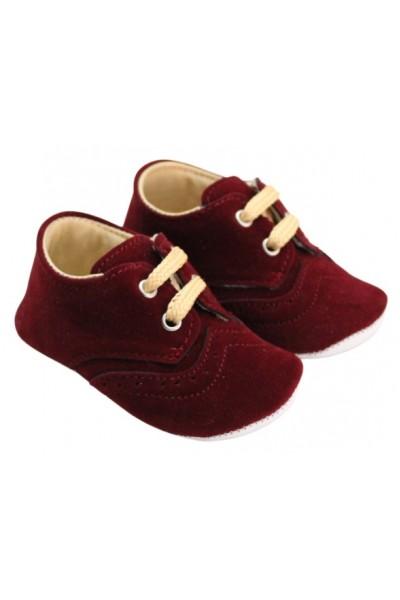 pantofiori baieti catifea grena