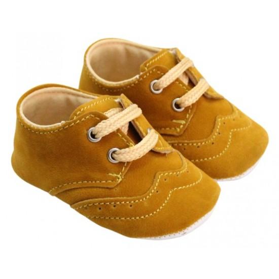pantofiori baieti catifea maro