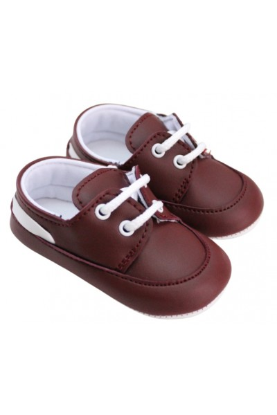 pantofiori baieti grena insert alb