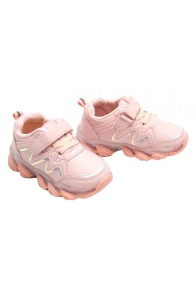 Adidasi fetite roz cu luminite