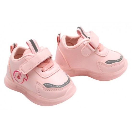 Adidasi bebe roz tik tok cu luminite