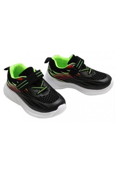 Adidasi copii negru+vernil