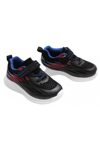 Adidasi copii negru+albastru+rosu
