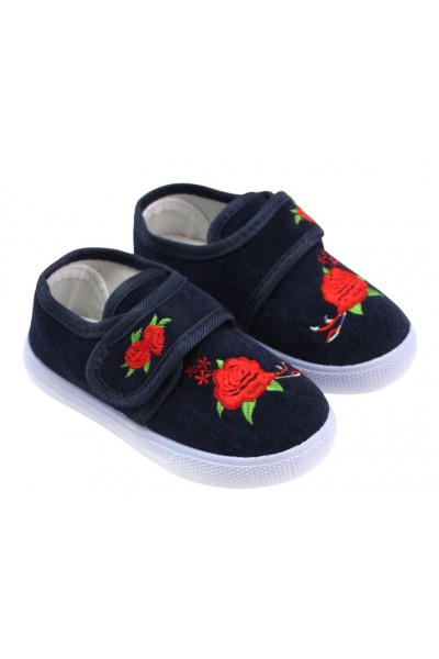 papuci interior bleumarin trandafir