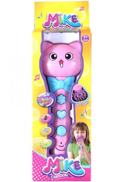 microfon copii model pisica