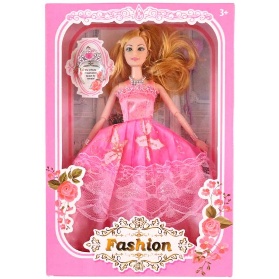 papusa printesa rochita roz