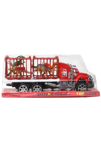 camion platforma dinozauri