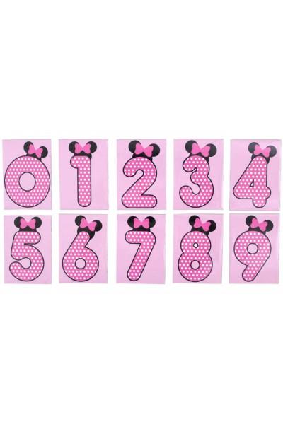 set cifre magnetice roz urechiuse