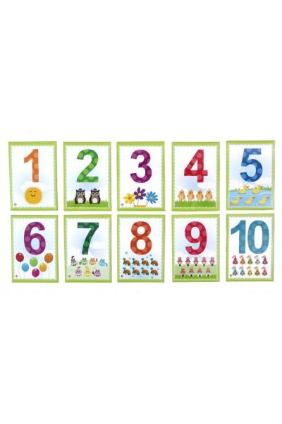 Set cifre magnetice verde