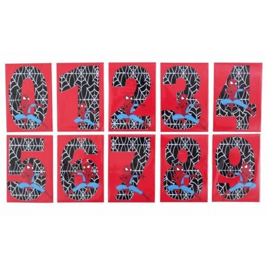 Set cifre magnetice rosu Spiderman