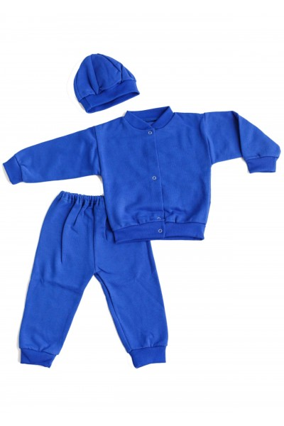 Trening baby confex albastru mansete gri