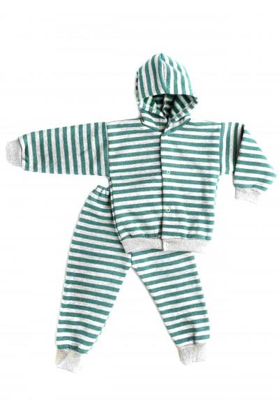Trening copii baby confex dungi verzi