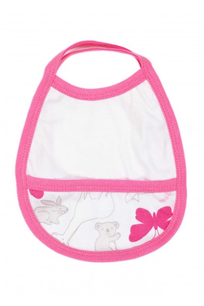 baveta bebe elemente roz