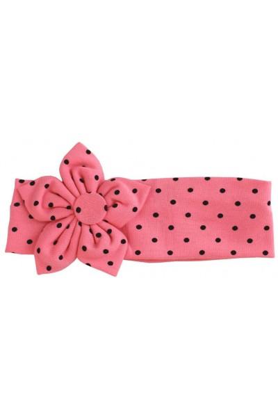 bentita elastica roz inchis buline negre