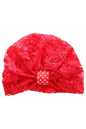turban fete dantela rosu