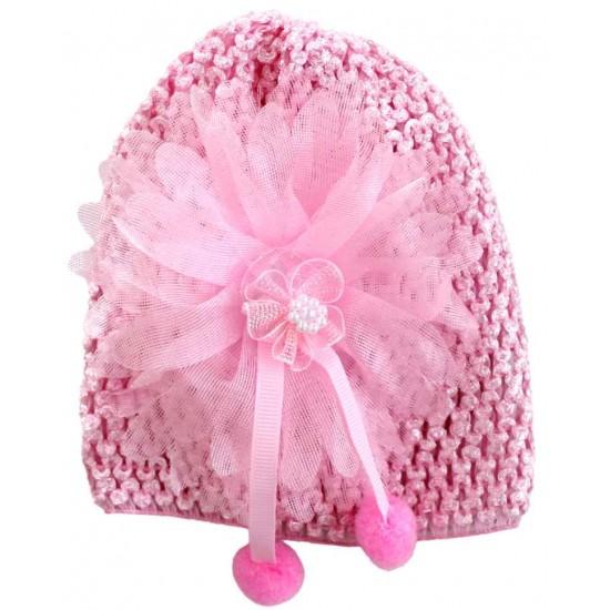 turban fete fantezie roz cyclame