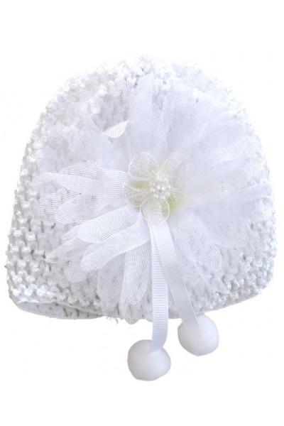 turban fete fantezie alb