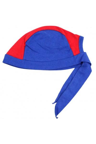 bandana copii albastru rosie