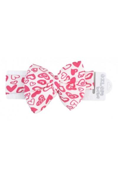 Bentita elastica fundita mare inimioare roz
