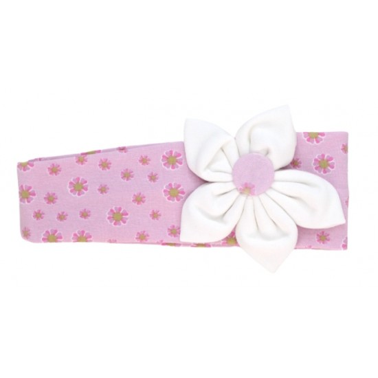bentita elastica roz  floricele