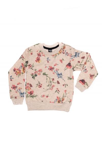 bluza fete dasilva crem cu imprimeu flori